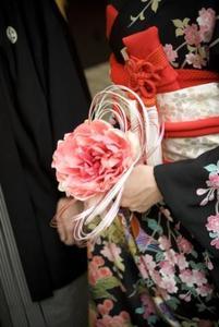 ... シック,ピンク系,造花,和装用