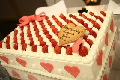 ウエディング アイテム 写真 ウエディングケーキ,生ケーキ,クラシック・シンプル